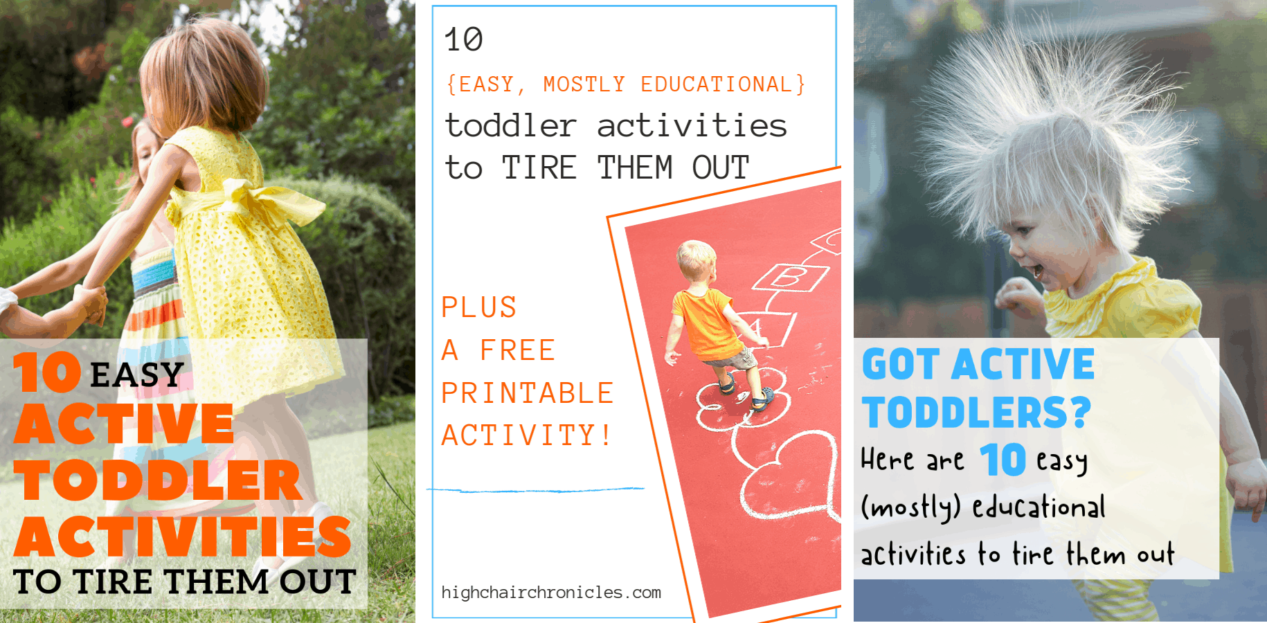 collage of 3 toddler activities pinnable images