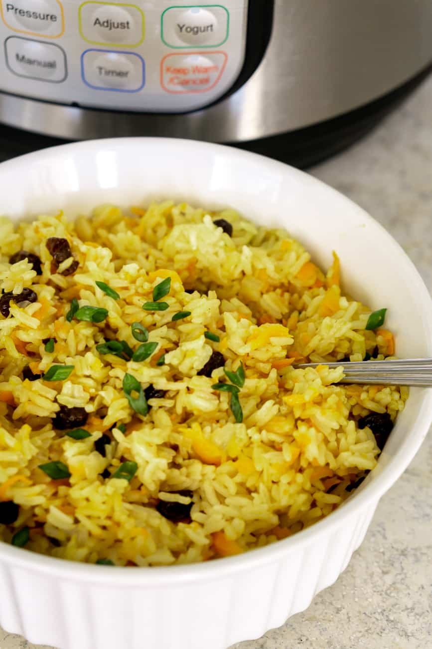 vegan instant pot rice pilaf