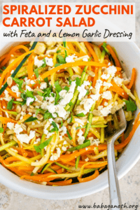 spiralized zucchini carrot salad feta pinterest image