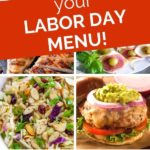 collage of labor day recipes and grilling recipes for a pinterest graphic