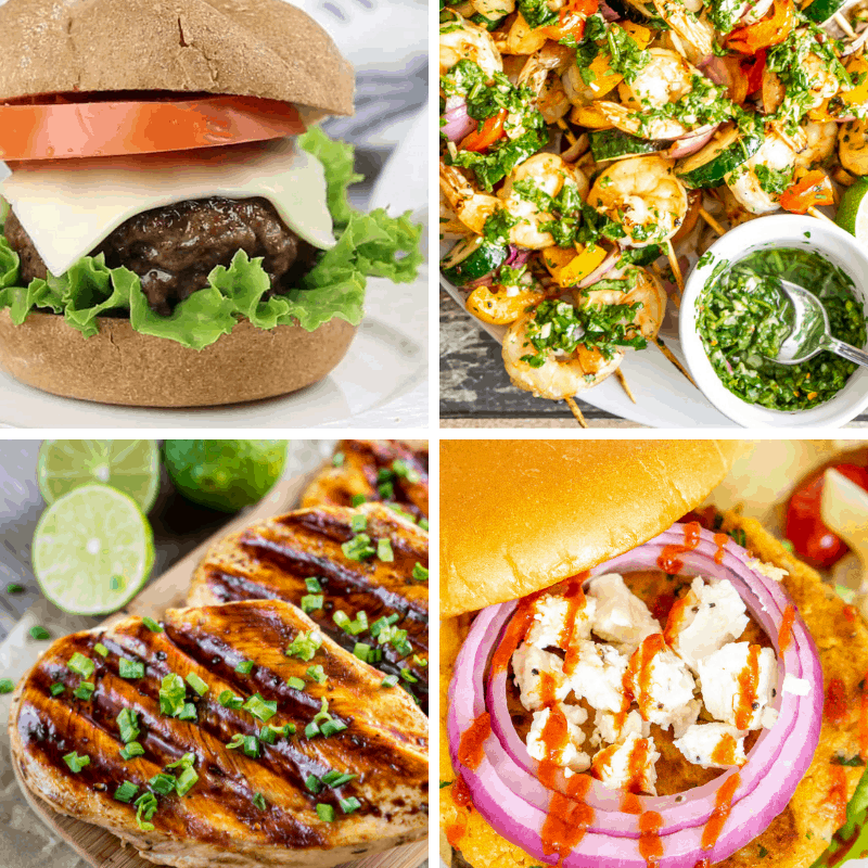labor day grilling recipes - collage