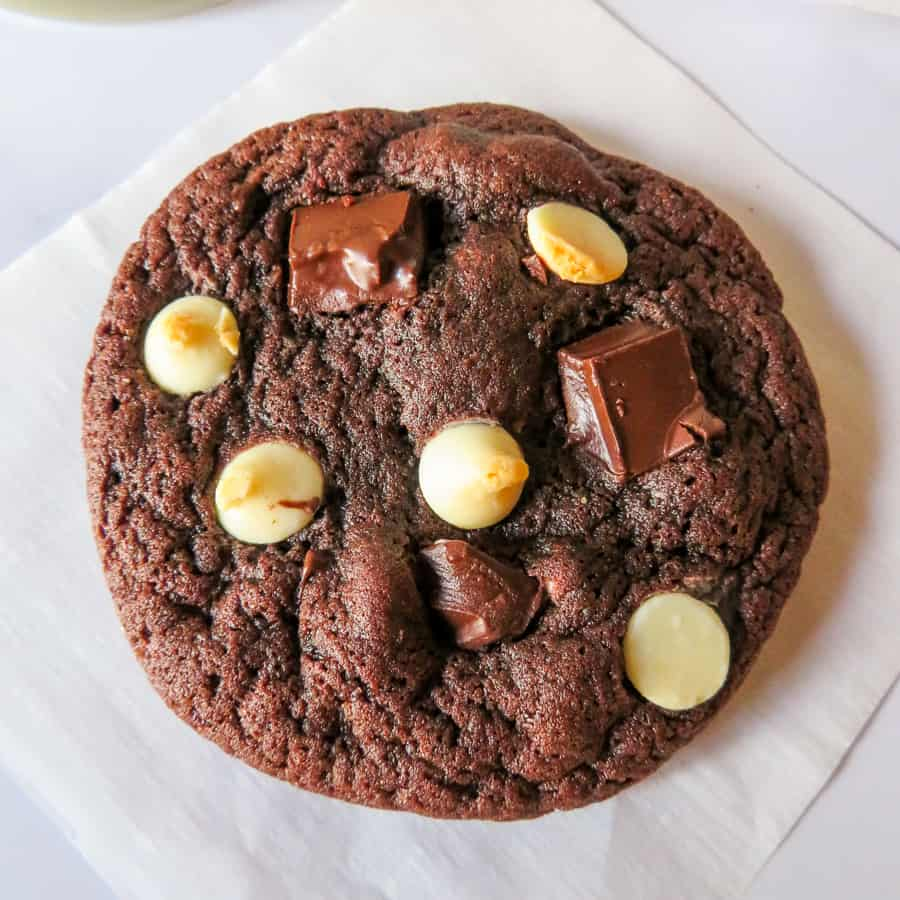 chewy triple chocolate cookie