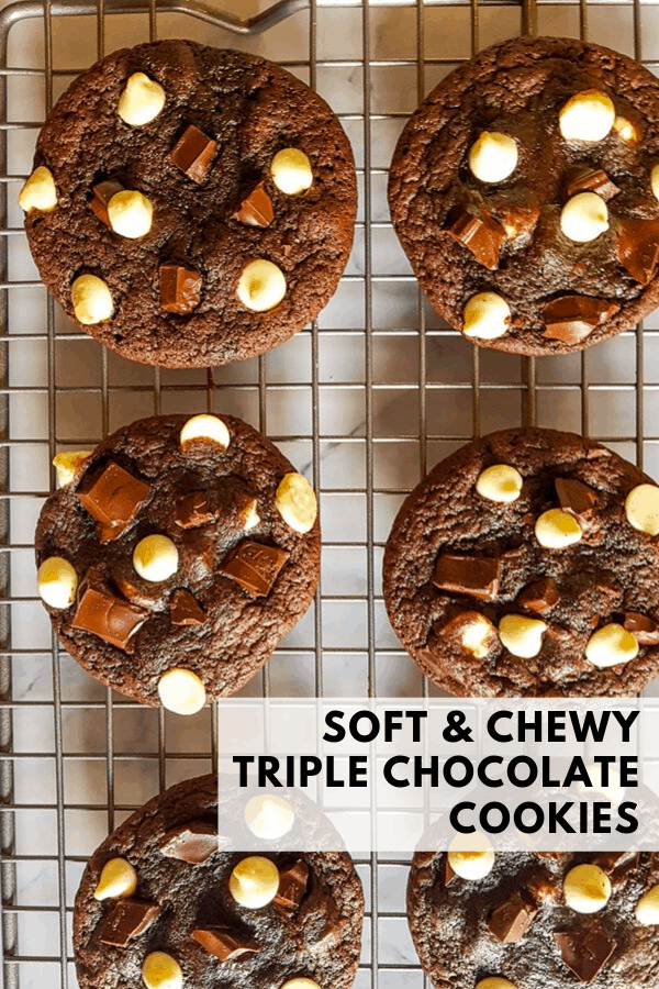 chewy chocolate cookies pinterest graphic