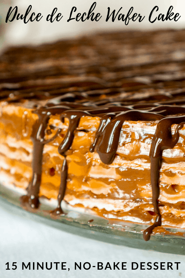 pinterest graphic or dulce de leche wafer cake