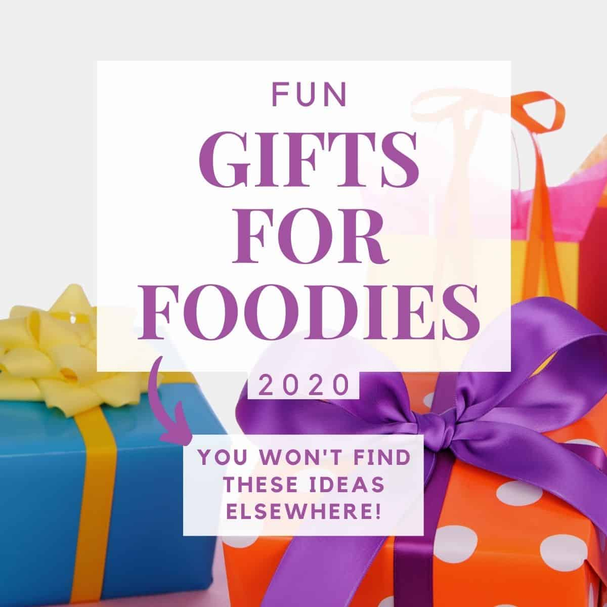 graphic of foodie gift guide