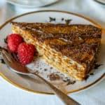 slice of dulce de leche waffle cake