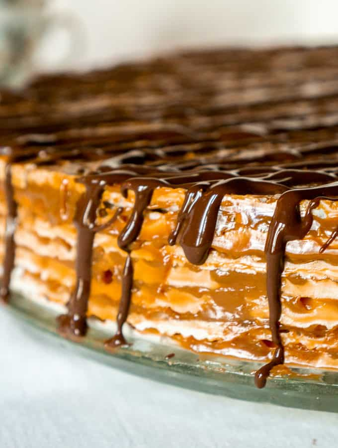 close up shot of russian wafer cake