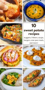 collage of sweet potato recipes