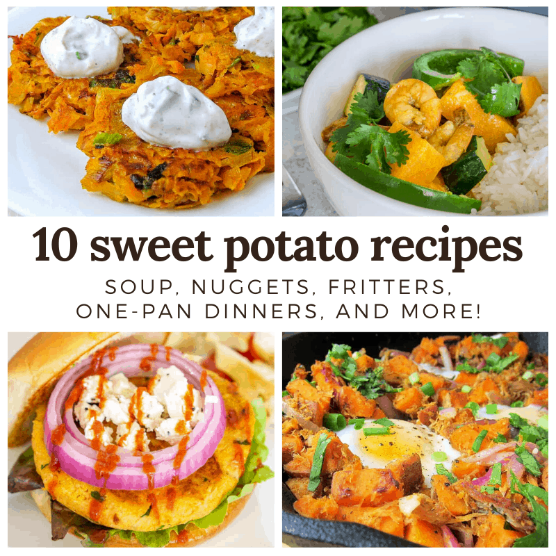 collage of sweet potato recipes