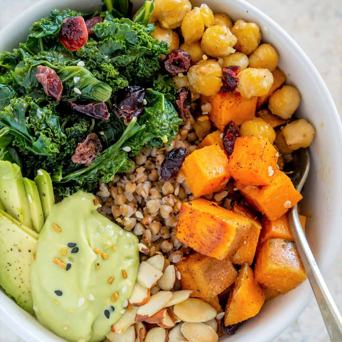Vegan Buckwheat Bowls With Kale And Chickpeas Babaganosh