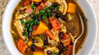 Sweet Potato Chicken Stew with Black Beans