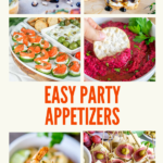 easy party appetizers pinterest graphic