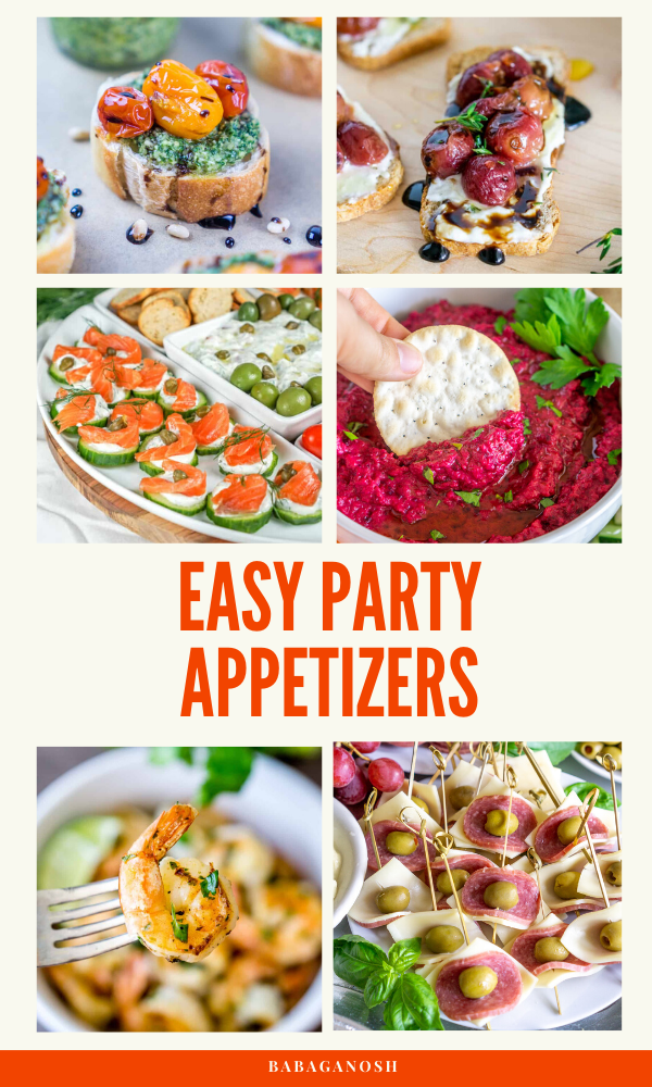 easy party appetizers pinterest grahic