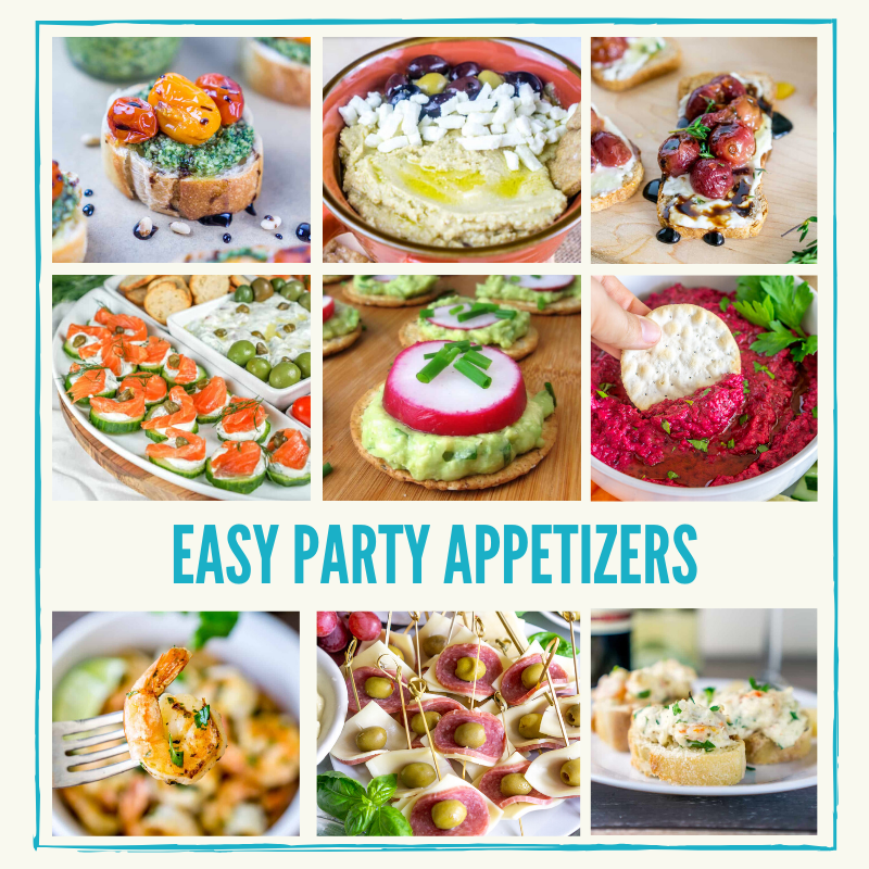 easy party appetizers graphic