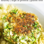 broccoli patty - pinterest graphic