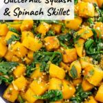 butternut squash spinach skillet pinterest graphic