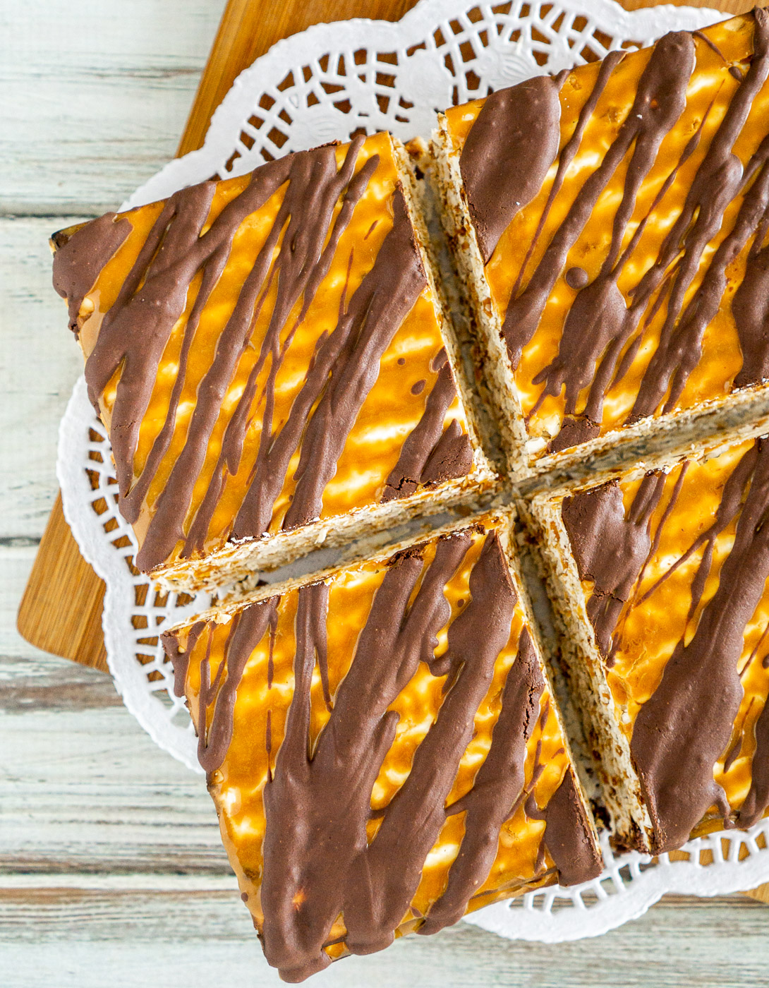 passover dessert cake on a serving platter