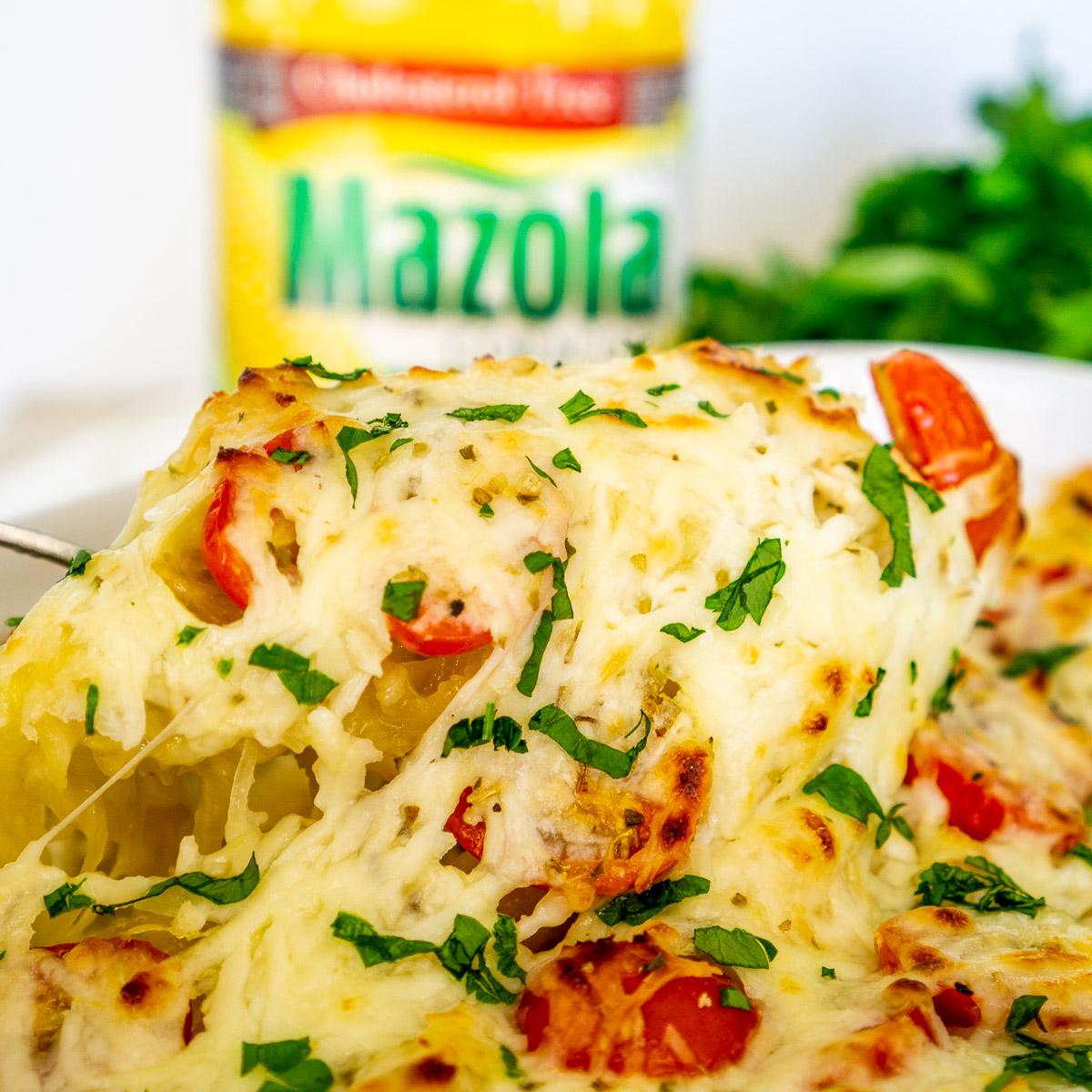 spaghetti squash chicken alfredo casserole