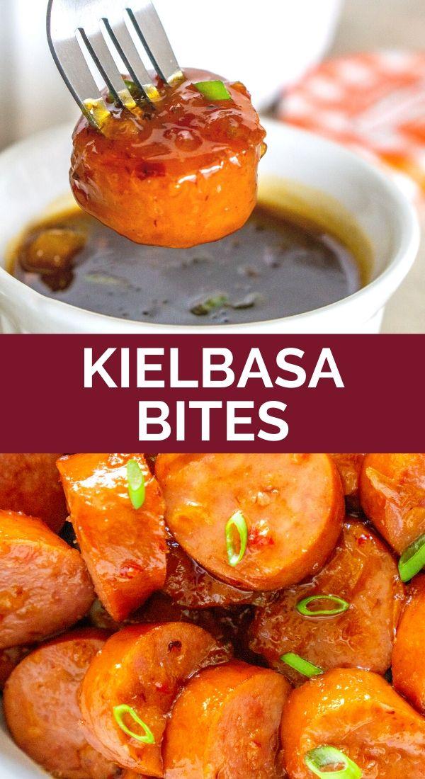 kielbasa appetizer pinterest graphic