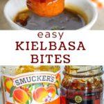easy kielbasa bites pinterest graphic