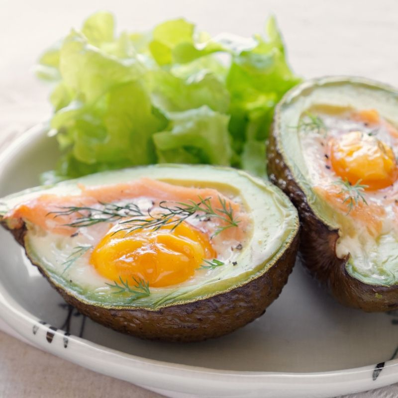 smoked salmon egg avocado