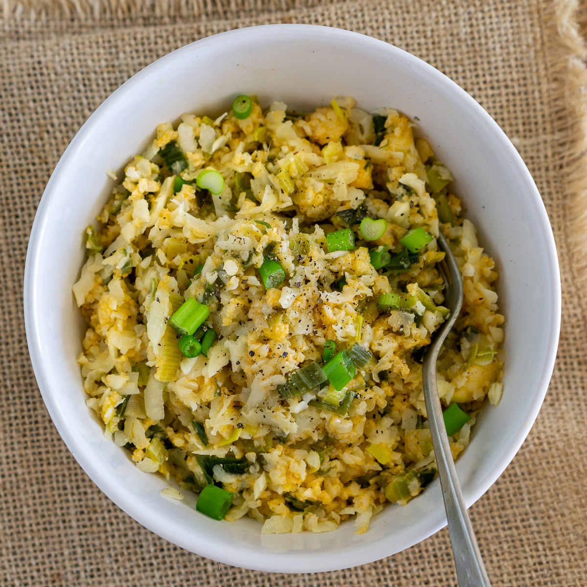 bowl of cauliflower risotto
