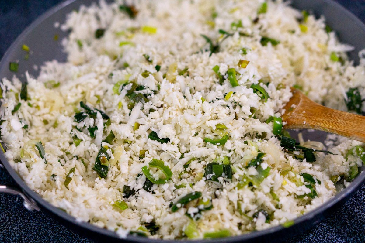 cooking cauliflower risotto