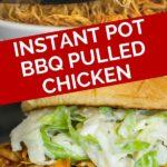 instant pot bbq pulled chicken pinterest graphic
