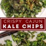 cajun kale chips pinterest graphic