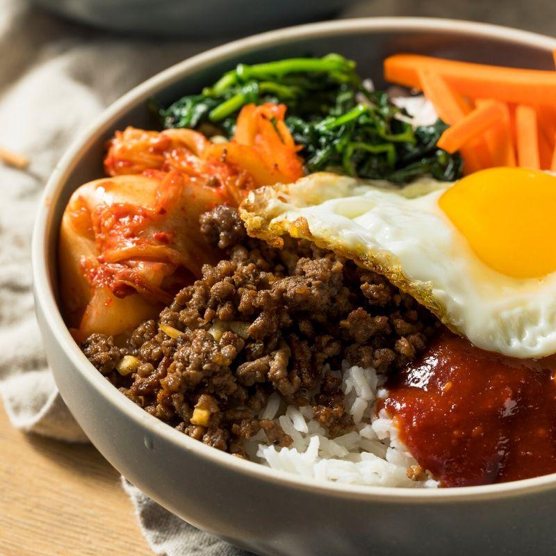korean dish with gochujang sauce