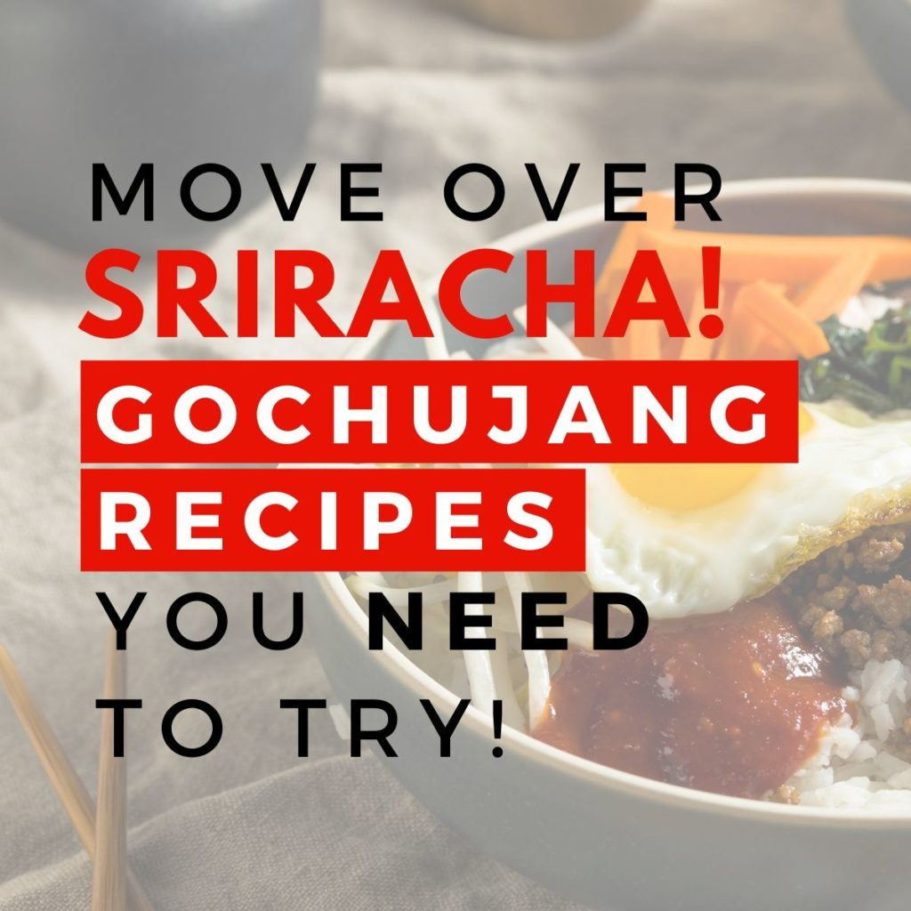 gochujang recipes graphic