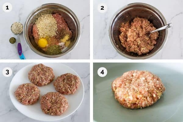 how to cook pork burgers step by step