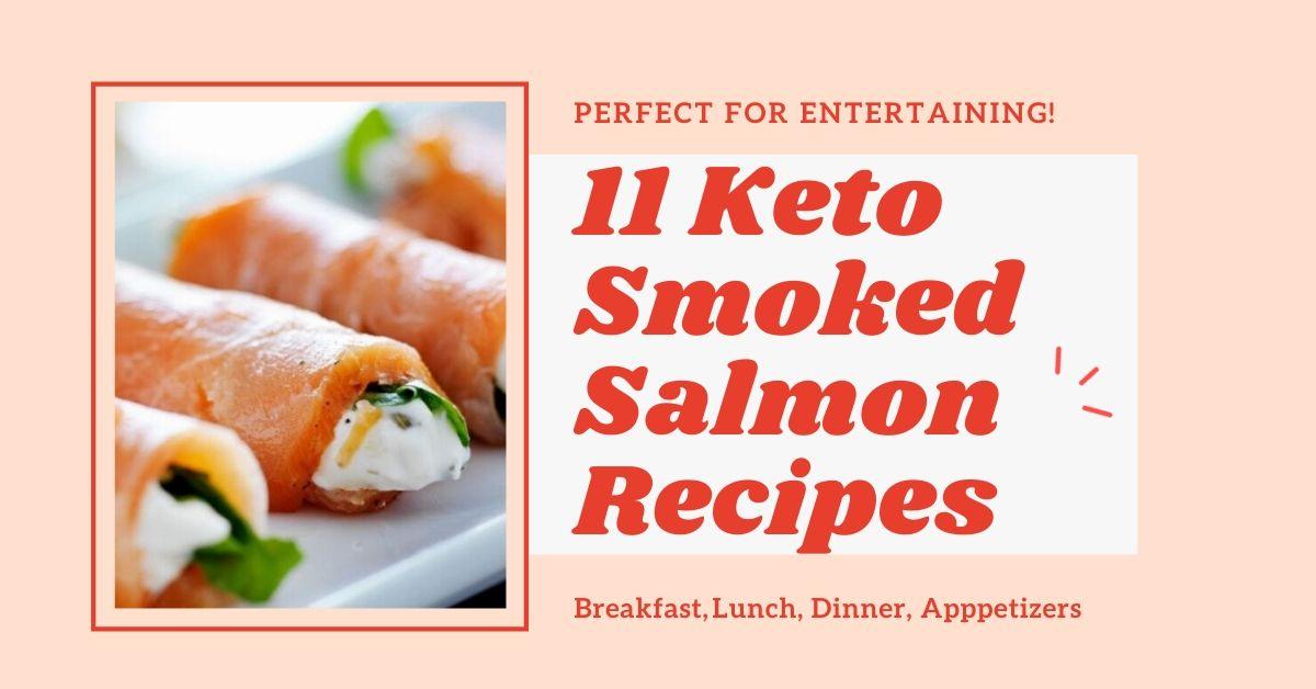 keto smoked salmon recipes graphic