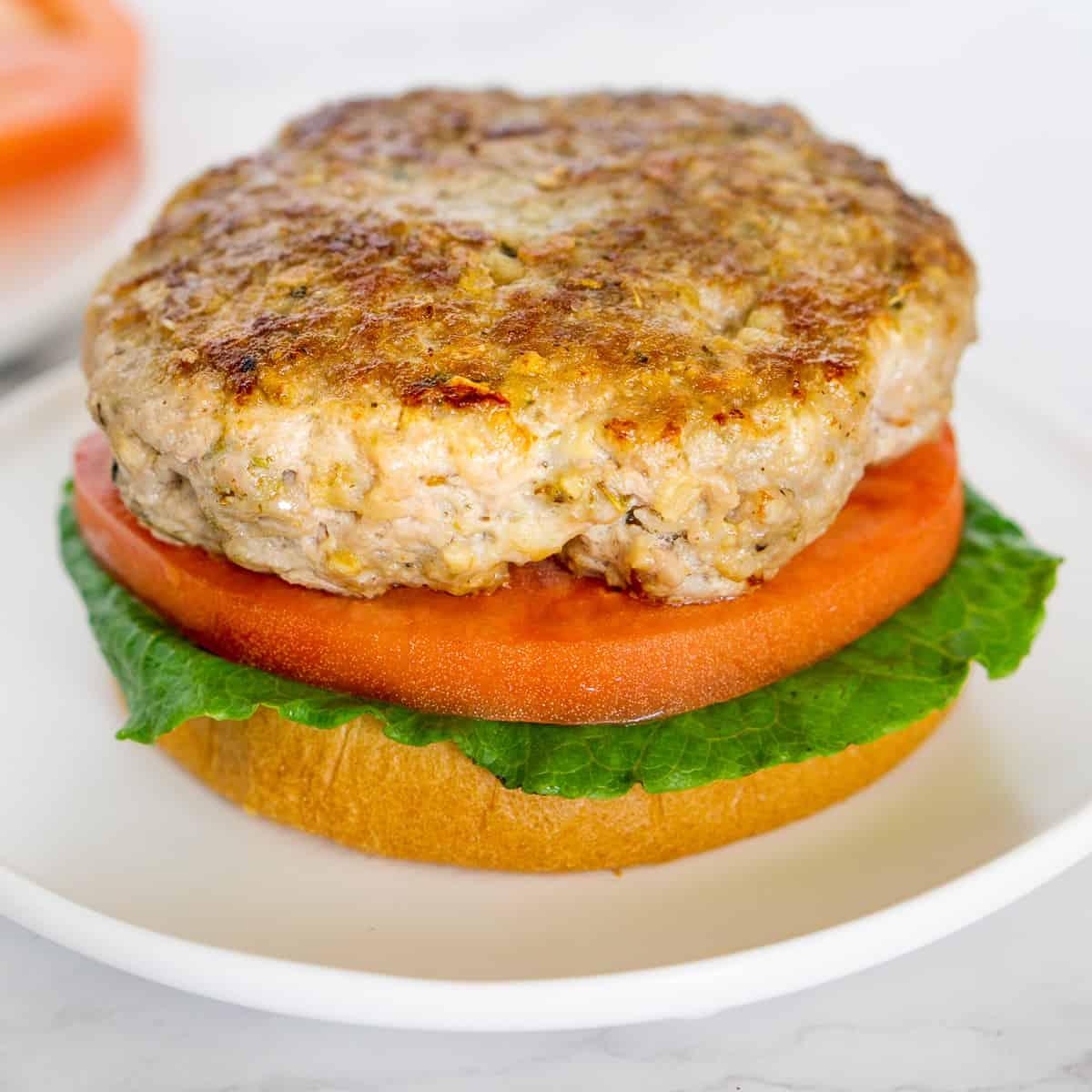 porn burger patty on a bun