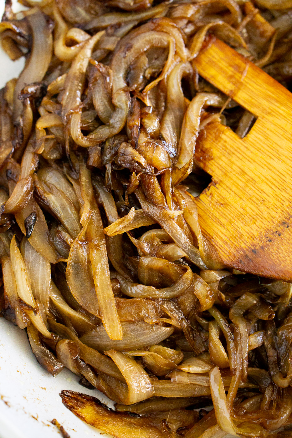 balsamic caramelized onions on a skillet