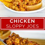 ground chicken sloppy Joe pinterest graphic