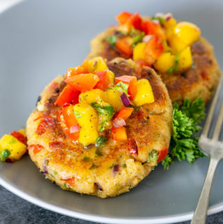 crab cakes on a plate