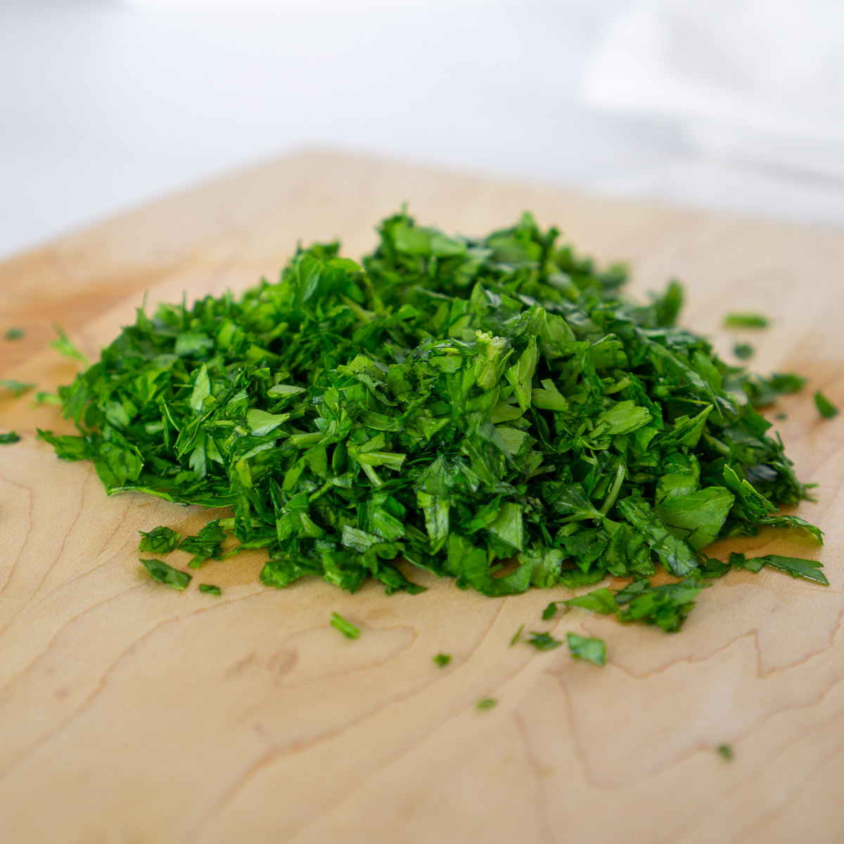 diced parsley and mint