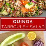 quinoa tabbouleh salad pinterest collage