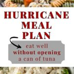 hurricane meal plan graphic