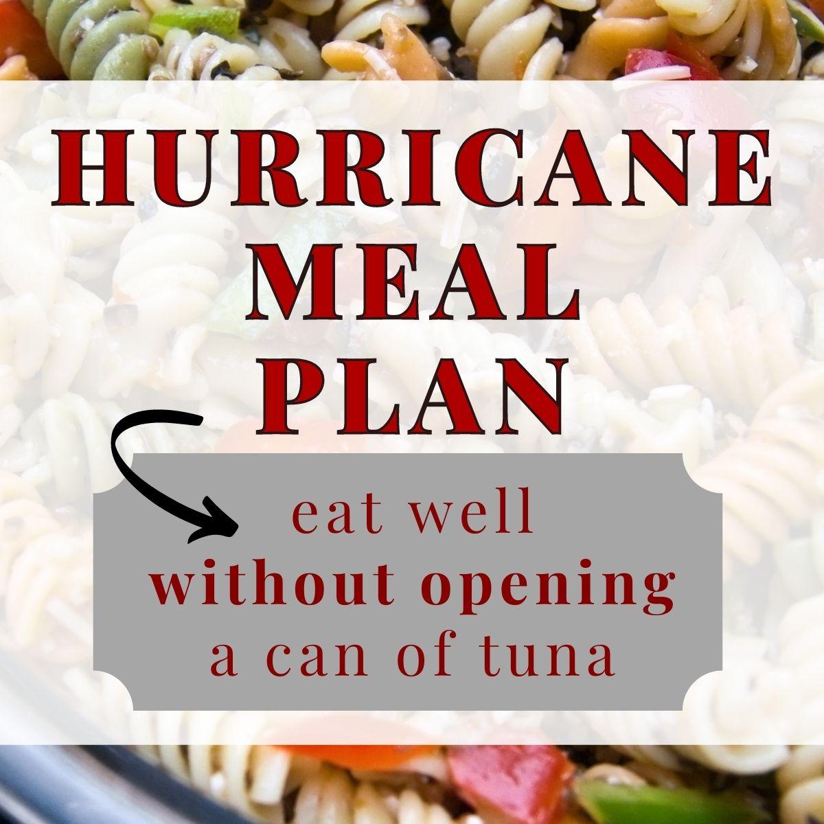 hurricane meal plan graphic