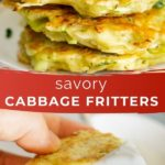 pinnable image - collage of cabbage pancakes