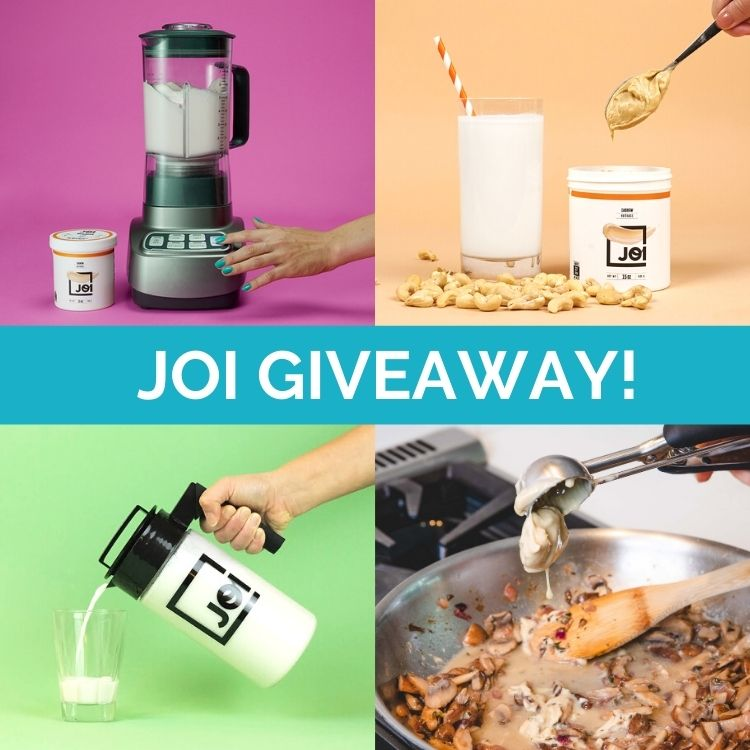 collage of JOI products for a giveaway graphic