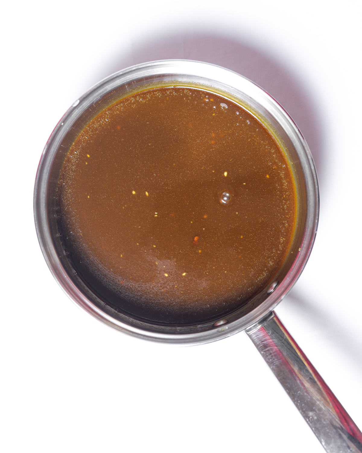 toffee sauce in a saucepan