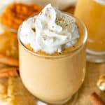 pumpkin whipped cottage cheese with whipped cream on top