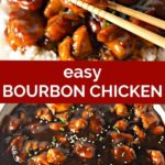 pinnable image for bourbon chicken recipe