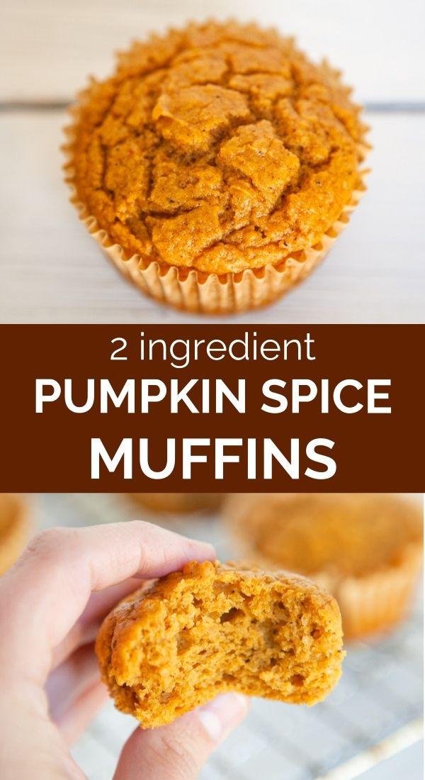pinnable image of easy pumpkin muffins