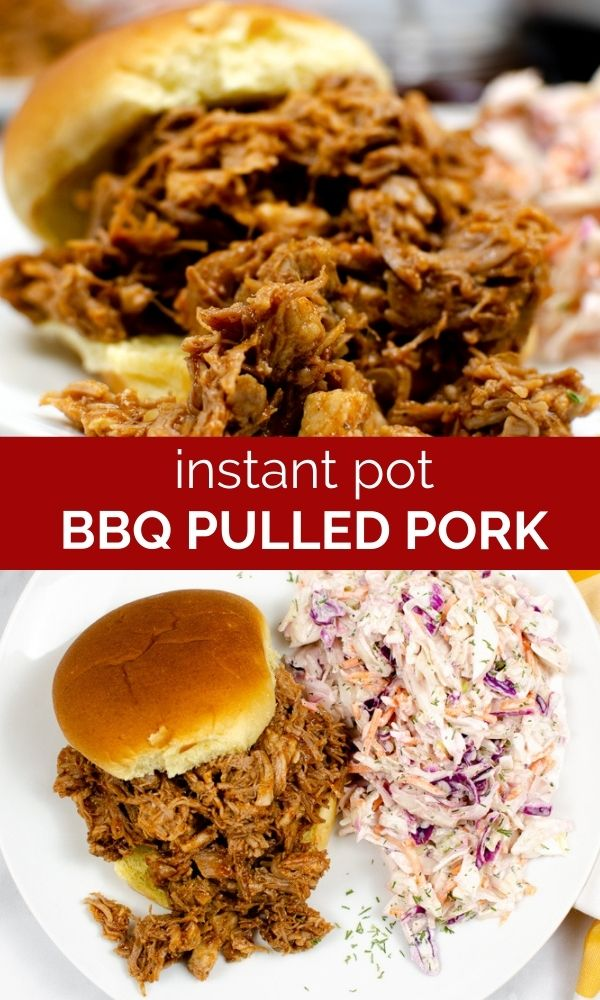 pinnable image of Instant Pot BBQ Pulled Pork images