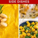 pinnable image of butternut squash side dishes