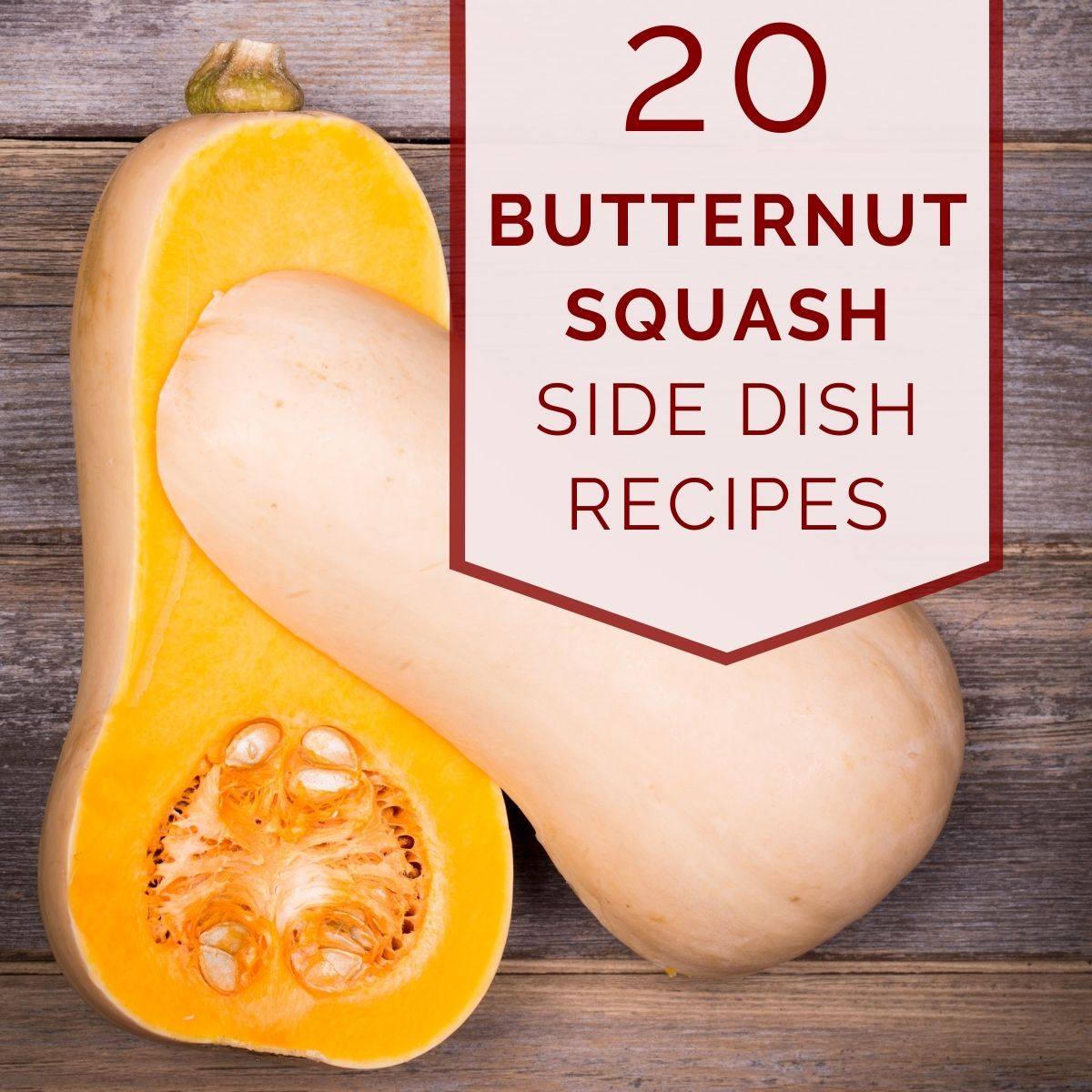 butternut squash recipes graphic